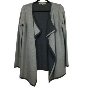 Lineamaglia Wool Blend Cardigan in Dark/Light Grey